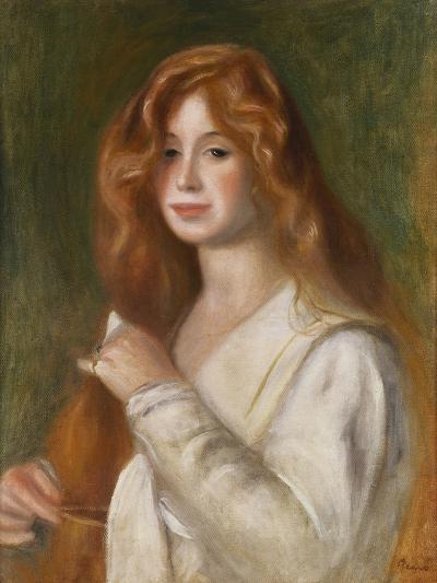 Girl Combing Her Hair-Pierre-Auguste Renoir-Giclee Print