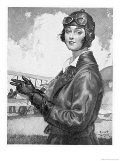 Girl Dressed for the Air-Emmett Watson-Giclee Print