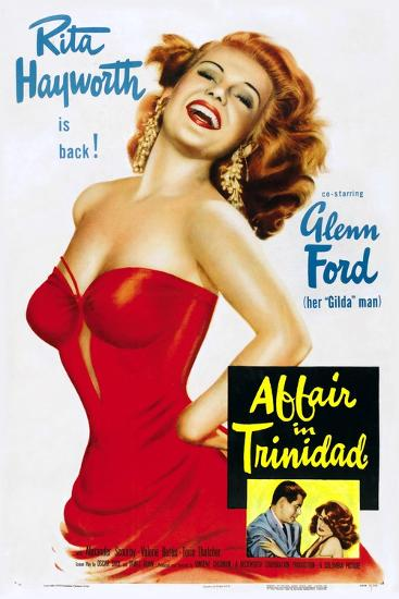 """Girl From Amen Valley, 1952, """"Affair In Trinidad"""" Directed by Vincent Sherman--Giclee Print"""