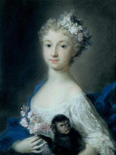 Girl Holding a Monkey-Carriera Rosalba-Giclee Print