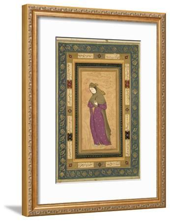 Girl Holding an Aigrette, from the Large Clive Album, c.1620-30--Framed Giclee Print