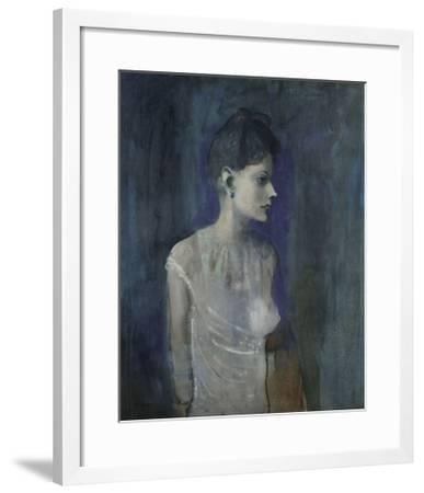 Girl in a Chemise, c. 1905-Pablo Picasso-Framed Art Print
