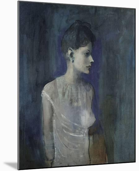 Girl in a Chemise, c. 1905-Pablo Picasso-Mounted Art Print