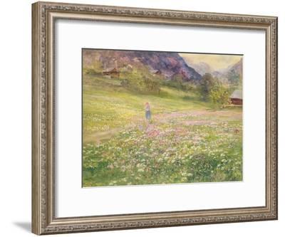 Girl in a Field of Poppies-John MacWhirter-Framed Giclee Print