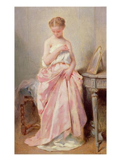 Girl in a Pink Dress-Charles Chaplin-Giclee Print