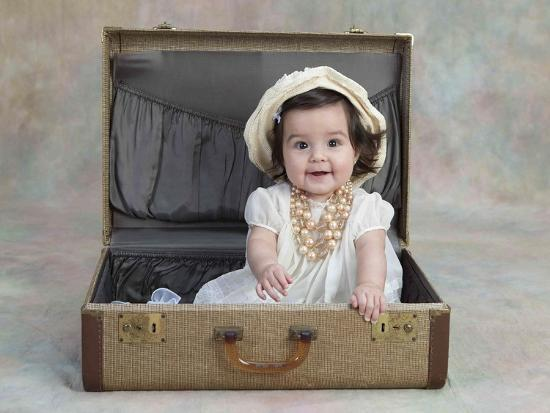 Girl in a Suitcase-Nora Hernandez-Giclee Print