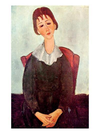 Girl in Black, 1918-Amedeo Modigliani-Giclee Print