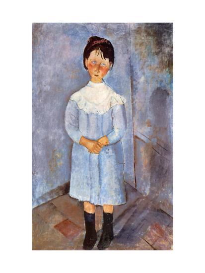Girl in Blue, 1918-Amedeo Modigliani-Giclee Print
