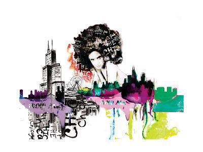 Girl in Chicago-Nicole Quattrocki-Giclee Print