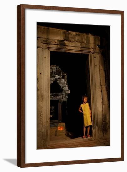Girl in Doorway-Erin Berzel-Framed Photographic Print