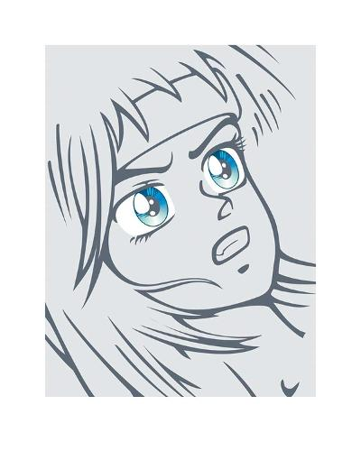 Girl in Grey-Terratag-Art Print