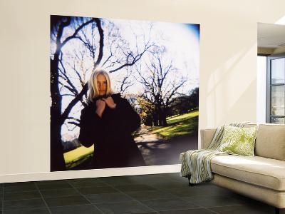 Girl in Park in Winter with Bare Trees in Background-David Hannah-Wall Mural – Large