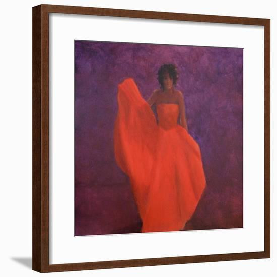 Girl in Red Dress-Lincoln Seligman-Framed Premium Giclee Print