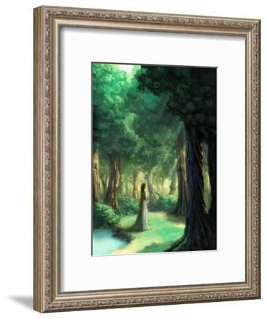 Girl in the Forest-Kyo Nakayama-Framed Giclee Print