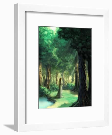 Girl in the Forest-Kyo Nakayama-Framed Giclee Print