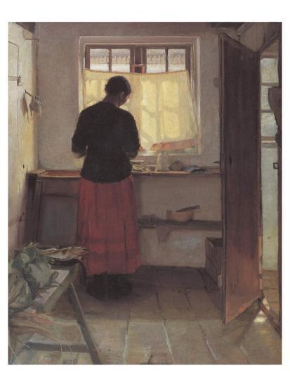 Girl in the Kitchen-Anna Kirstine Ancher-Premium Giclee Print