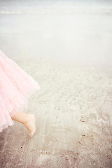 Girl in Tulle At Beach Edge 6-Susannah Tucker-Photographic Print