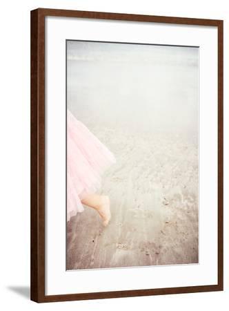 Girl in Tulle At Beach Edge 6-Susannah Tucker-Framed Photographic Print