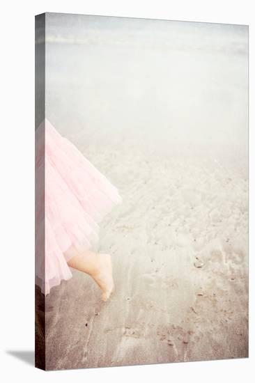 Girl in Tulle At Beach Edge 6-Susannah Tucker-Stretched Canvas Print