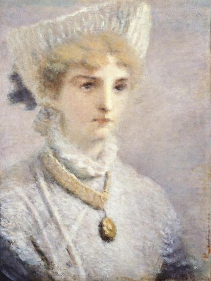 Girl in White-Daniele Ranzoni-Giclee Print