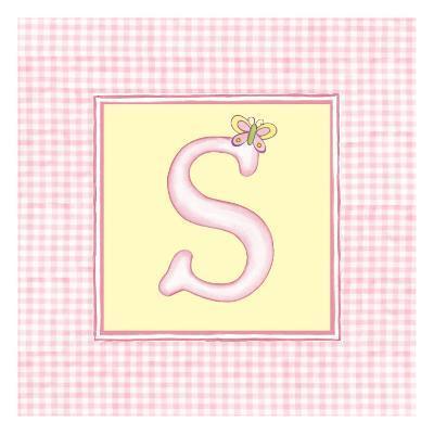 Girl Letter S-Vision Studio-Art Print