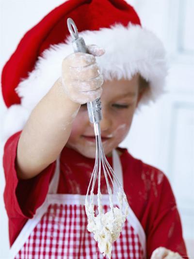 Girl Mixing Dough with a Whisk-Alena Hrbkova-Photographic Print