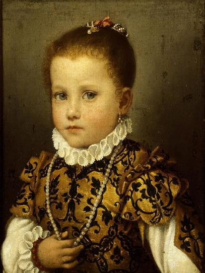 Girl of Family Redetti-Giovanni Battista Moroni-Giclee Print