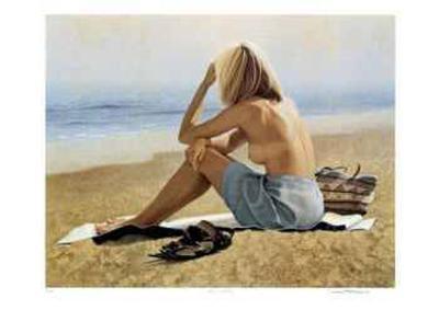 Girl on a Beach-Michael Thompson-Collectable Print