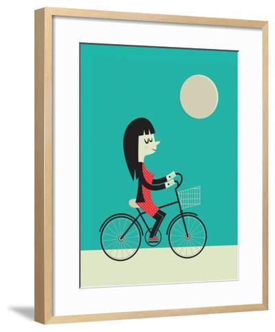 Girl on a Bike-Jeremie Claeys-Framed Art Print