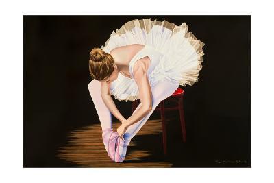 Girl on a Red Stool-Karl Black-Art Print