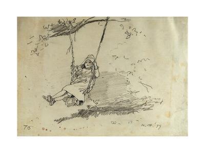 Girl on a Swing, 1879-Winslow Homer-Giclee Print