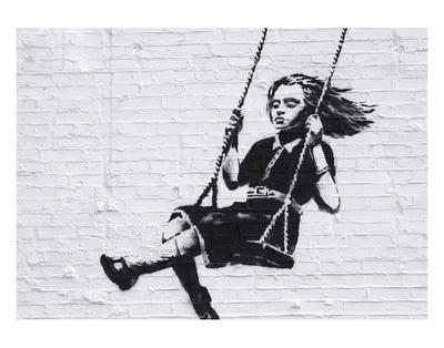 Girl on a Swing-Banksy-Art Print