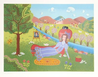 Girl on Divan-Gisela Fabian-Limited Edition