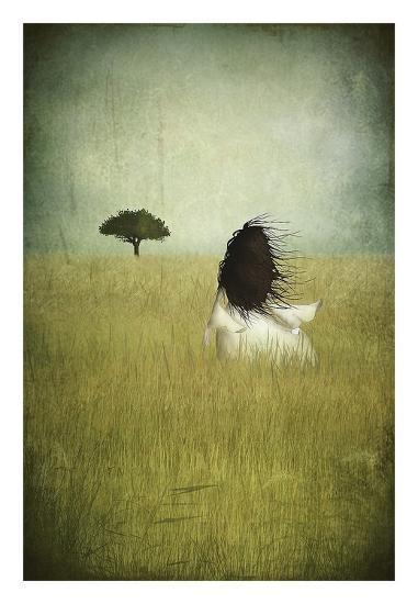 Girl On The Field-Majali-Art Print