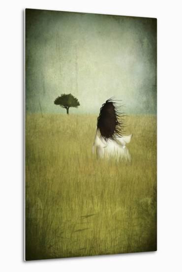 Girl On The Field-Majali-Metal Print