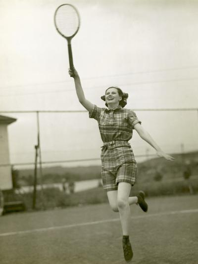 Girl Playing Tennis-George Marks-Photographic Print