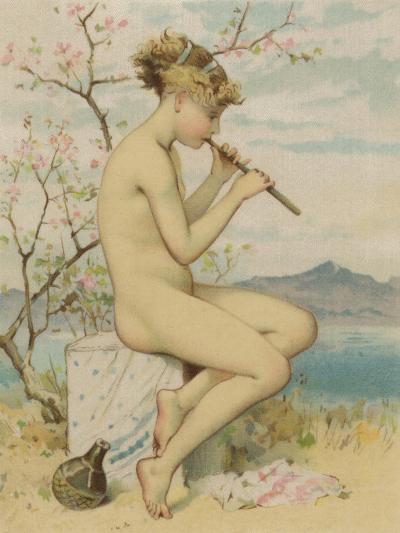 Girl Playing the Recorder--Giclee Print