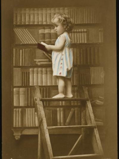 Girl Reading Book--Photographic Print