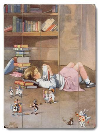 Girl Reading on Floor