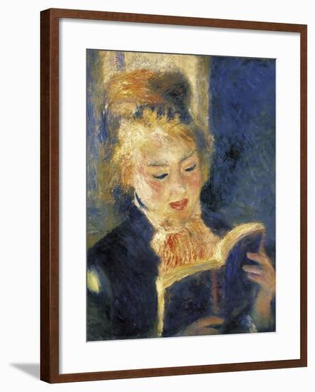 Girl Reading-Pierre-Auguste Renoir-Framed Art Print