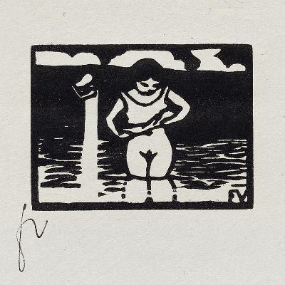 Girl Removing Her Shirt, VI from 'Les Petites Baigneuses', 1893-F?lix Vallotton-Giclee Print