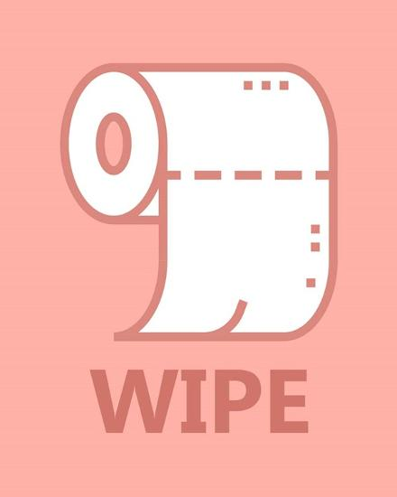 Girl's Bathroom Task-Wipe-Color Me Happy-Art Print