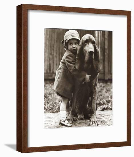 Girl's Best Friend--Framed Art Print