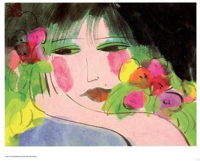 Girl's Face-Walasse Ting-Art Print