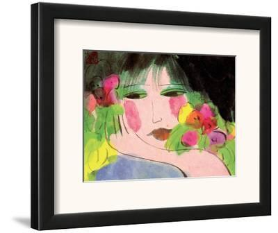 Girl's Face-Walasse Ting-Framed Art Print