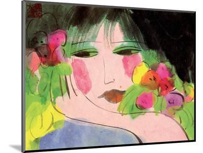 Girl's Face-Walasse Ting-Mounted Print