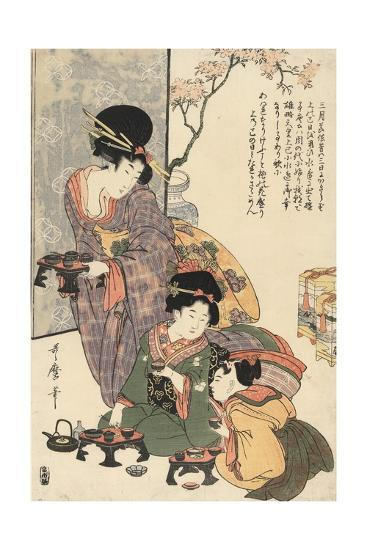 Girl's Festival (Hinamatsuri)-Kitagawa Utamaro-Giclee Print