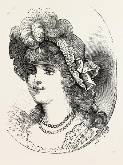 Girl's Straw Hat, 1882, Fashion--Giclee Print