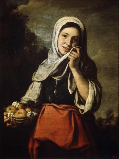 Girl Selling Fruit, C1650-C1660-Bartolom? Esteban Murillo-Giclee Print