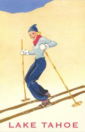 Girl Skiing, Lake Tahoe